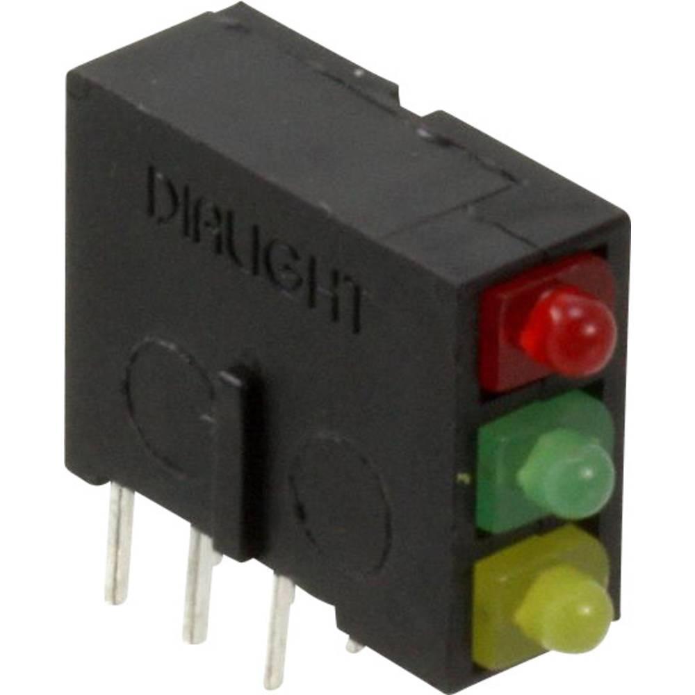LED-komponent Dialight (L x B x H) 14.62 x 13.37 x 4.97 mm Grøn, Rød, Gul