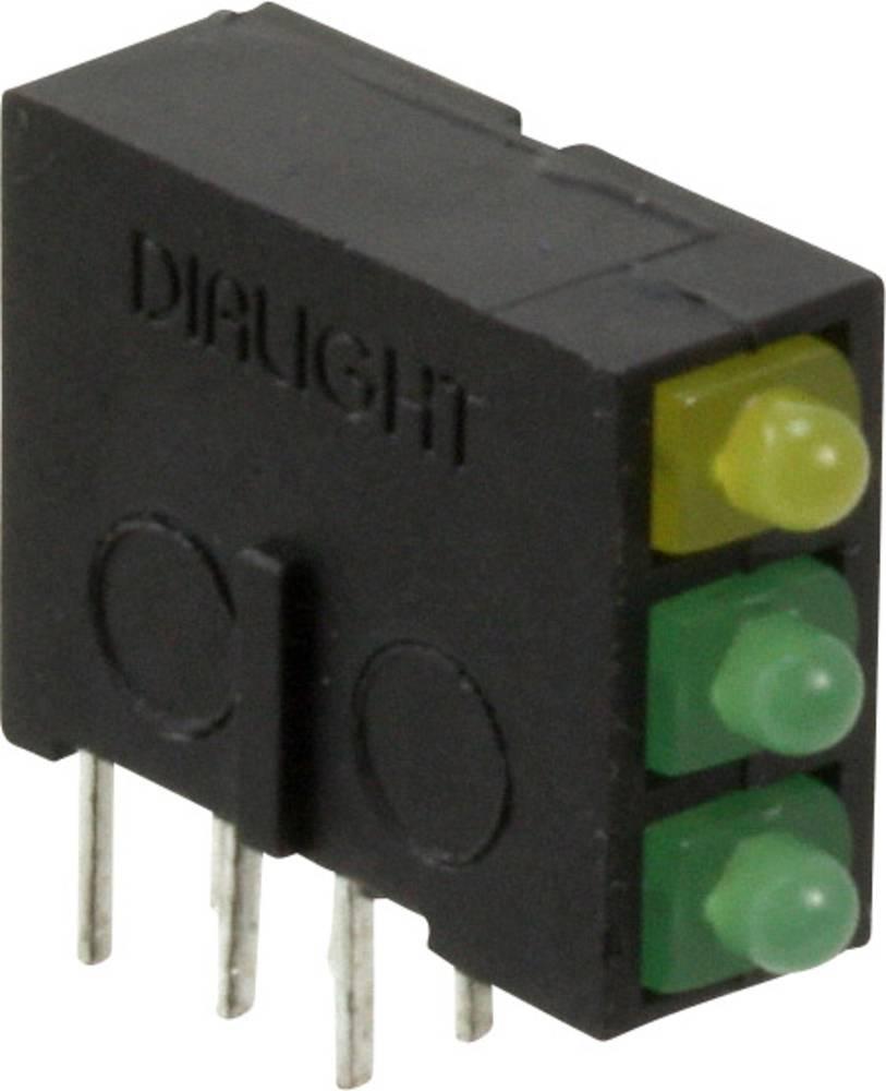 LED-komponent Dialight (L x B x H) 14.62 x 13.37 x 4.97 mm Grøn, Gul