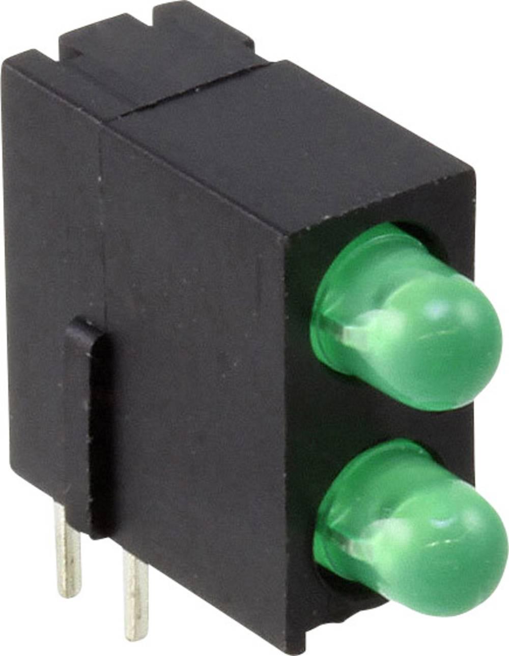 LED-komponent Dialight (L x B x H) 13.4 x 13.35 x 5 mm Grøn