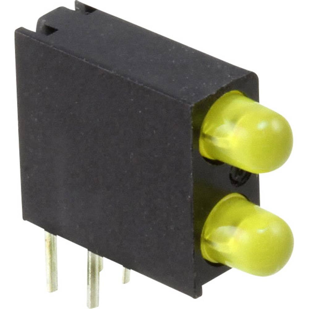 LED-komponent Dialight (L x B x H) 14.06 x 13.33 x 4.32 mm Gul