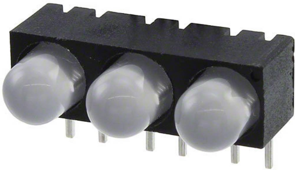 LED-komponent Dialight (L x B x H) 18.64 x 10.84 x 9.64 mm Grøn, Rød