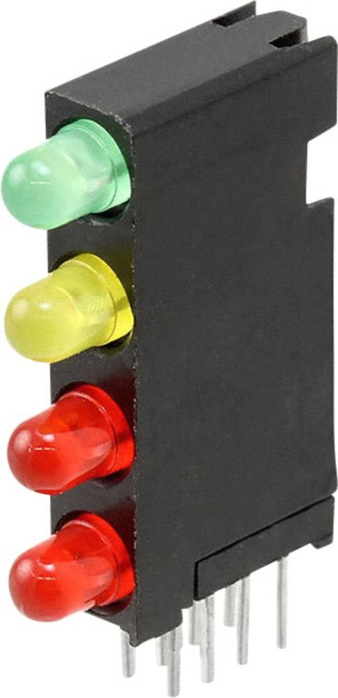 LED-komponent Dialight (L x B x H) 24 x 14.35 x 4.32 mm Grøn, Rød, Gul