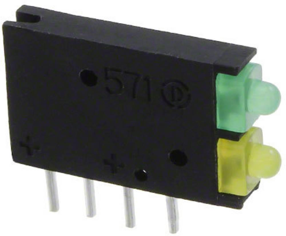 LED-komponent Dialight (L x B x H) 15.45 x 11.61 x 2.5 mm Grøn, Gul