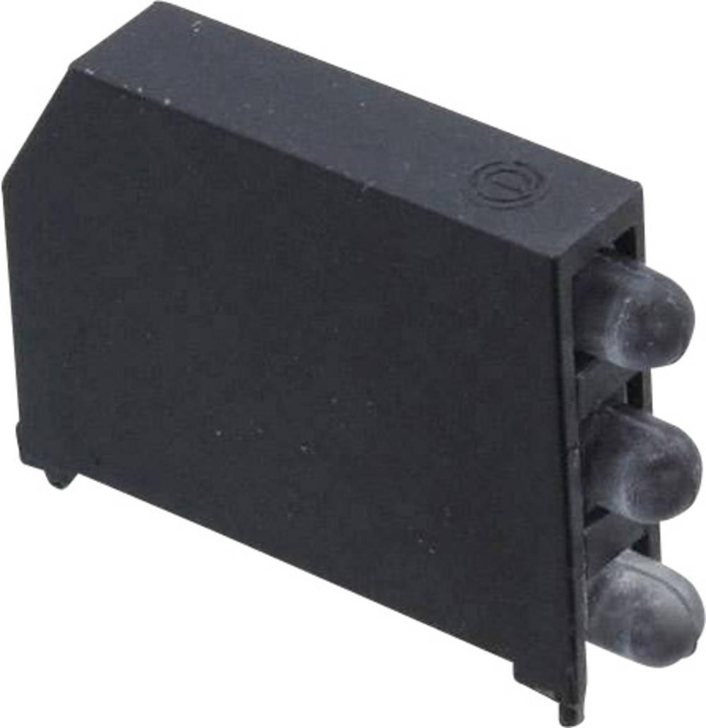 LED-komponent Dialight (L x B x H) 22.61 x 16.08 x 4.32 mm Rød, Gul