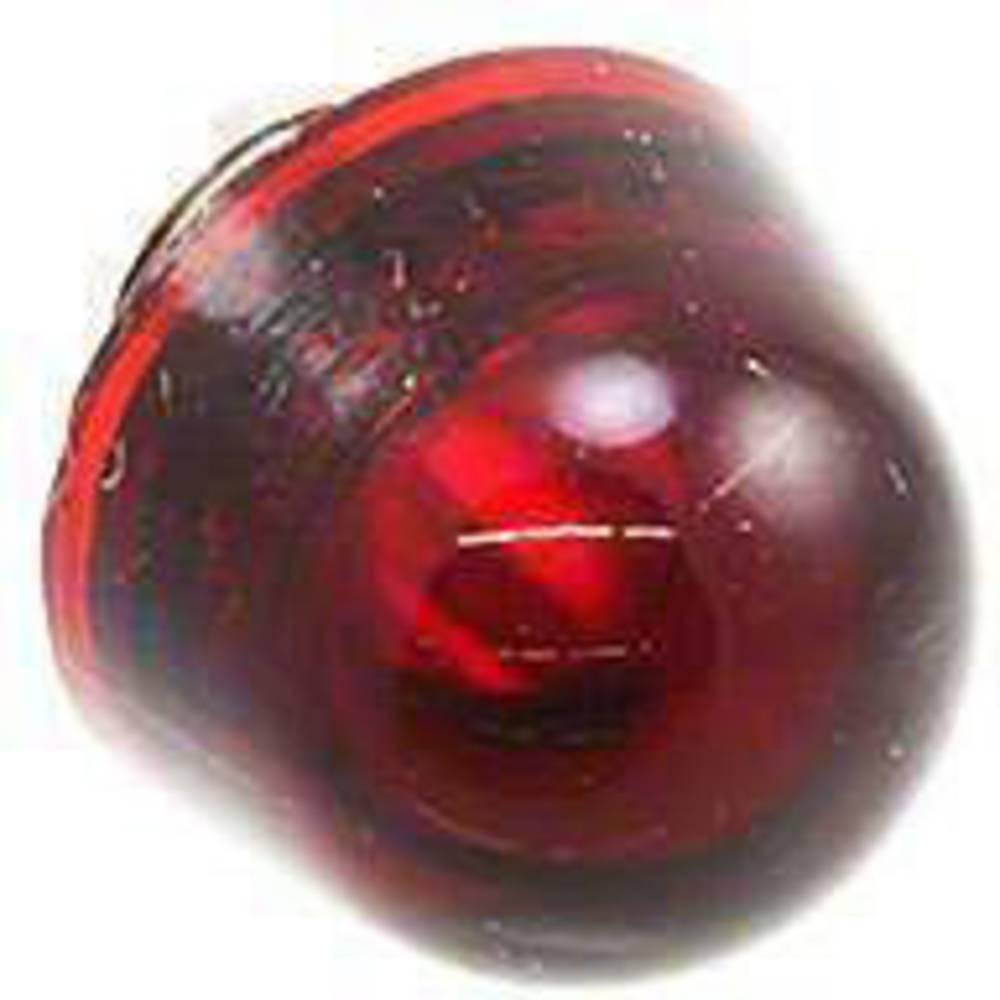 Linsecover Rød, Transparent Dialight 128-0931-003