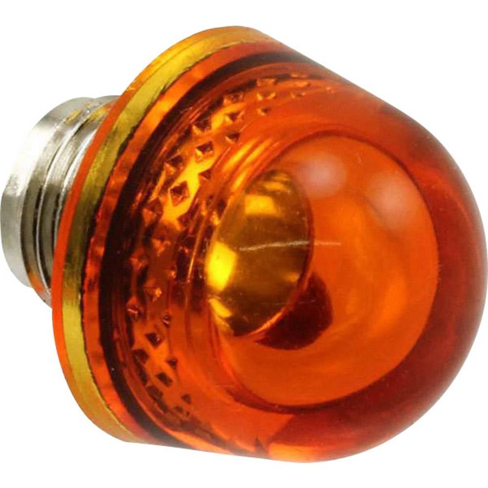 LED pokrovček, jantar, prozoren Dialight 128-0933-003