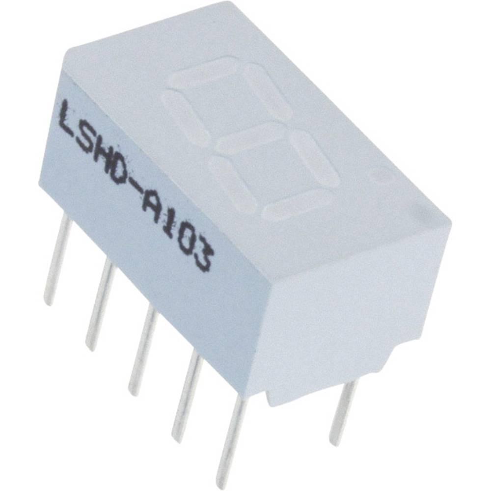 7-segmentsvisning Lite-On 7.62 mm 2.1 V Rød