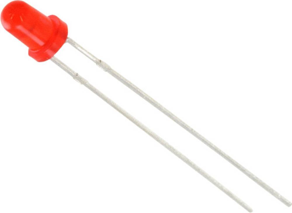 LED med ledninger Lite-On 3 mm 2.5 mcd 40 ° 15 mA 2.1 V Rød
