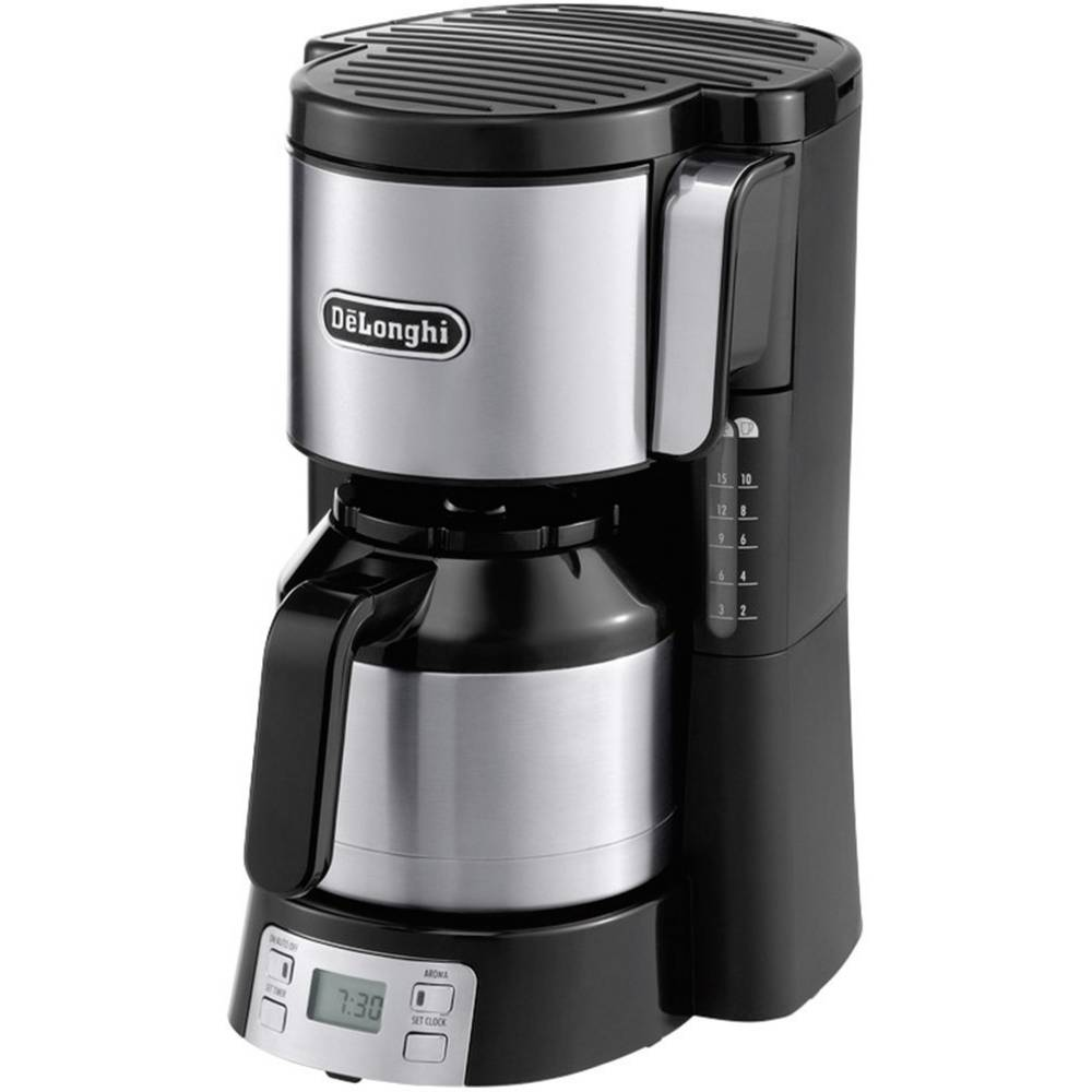 DeLonghi Coffee maker Black/silver Cup volume=10 Thermal jug, Timer