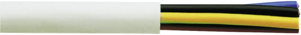 Gumirani vodnik H05VV-F 4 G 0.75 mm bele barve Faber Kabel 031054 50 m