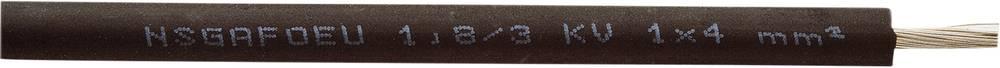 Gumirani vodnik NSGAFOEU 1,8/3 KV 1 x 4 mm črne barve Faber Kabel 050159 meterski