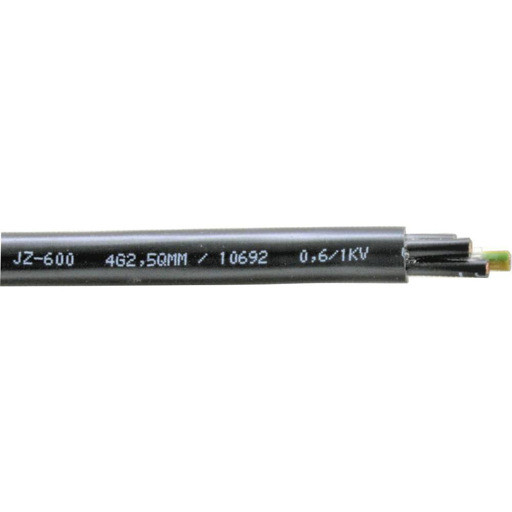 Krmilni kabel YSLY-JZ 600 3 x 1.5 mm črne barve Faber Kabel 033640 meterski