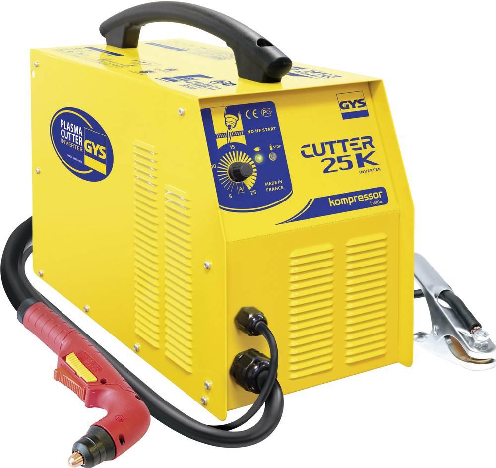 GYS inverterski plazemski rezalnik 25 A PLASMA CUTTER 25K 030947 delovna napetost 230 V/50 Hz