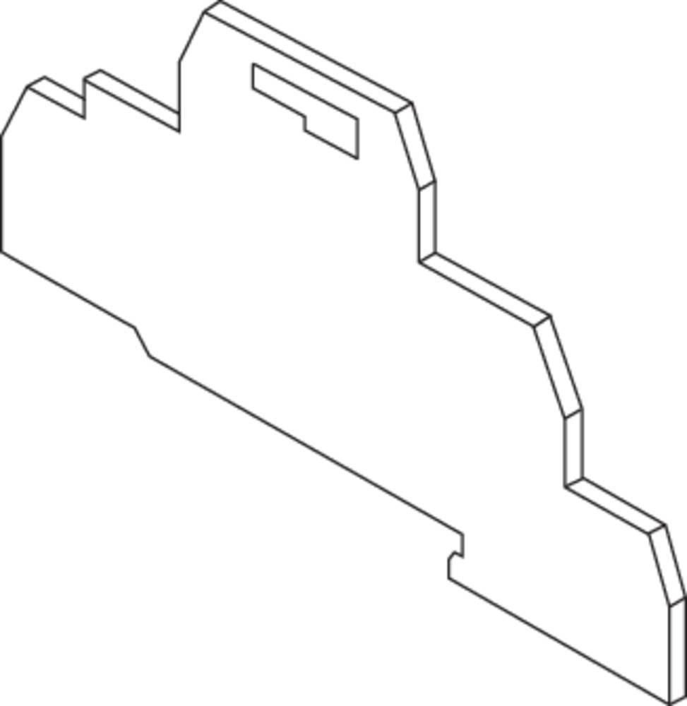 Endeplade for terminaler med fjederkrafttilslutning FED10.NL ABB 1 stk
