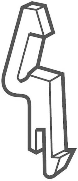 Låsning stykke for blokke med fjederkrafttilslutning VRPA1 ABB 1 stk