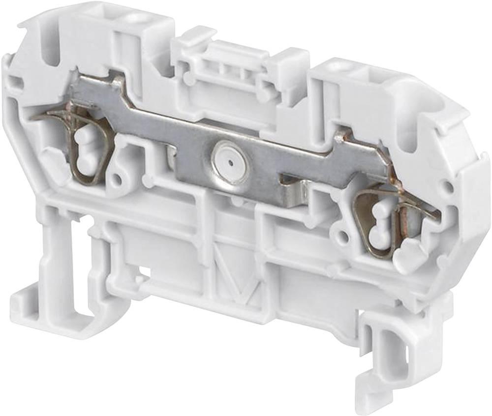 Gennemgangsklemme 6 mm Trækfjeder Belægning: N Blå ABB 1SNA 290 063 R0100 1 stk