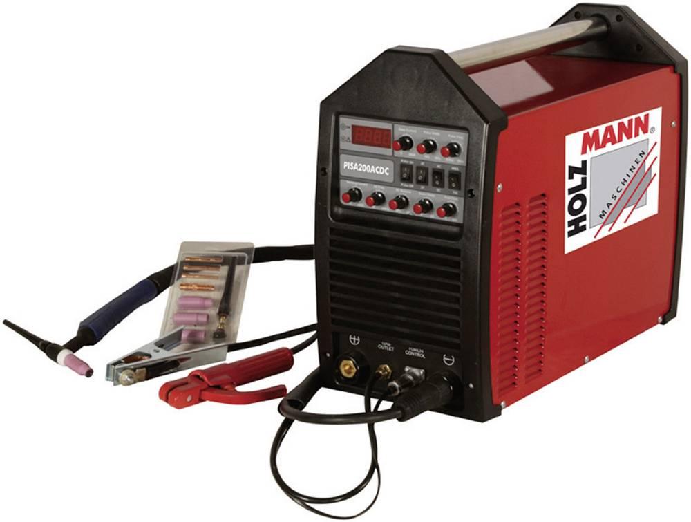 Holzmann Maschinen WIG/TIG pulzni inverterski varilni aparat PISA 200AC/DC, 230 V/50 Hz, varilni tok 5 - 20 H110200001