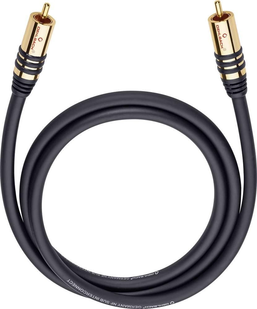 Cinch avdio priključni kabel [1x Cinch vtič - 1x Cinch vtič] 8 m črne barve, pozlačeni vtični kontakti Oehlbach