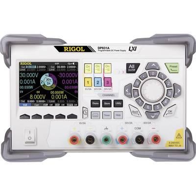 Rigol DP831A Bench PSU (adjustable voltage) 0 – 5 V DC 0 – 5 A 195 W No. of outputs 3 x