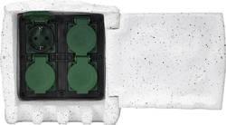 Trädgårdsstickkontakt Renkforce 4x Vit-grå