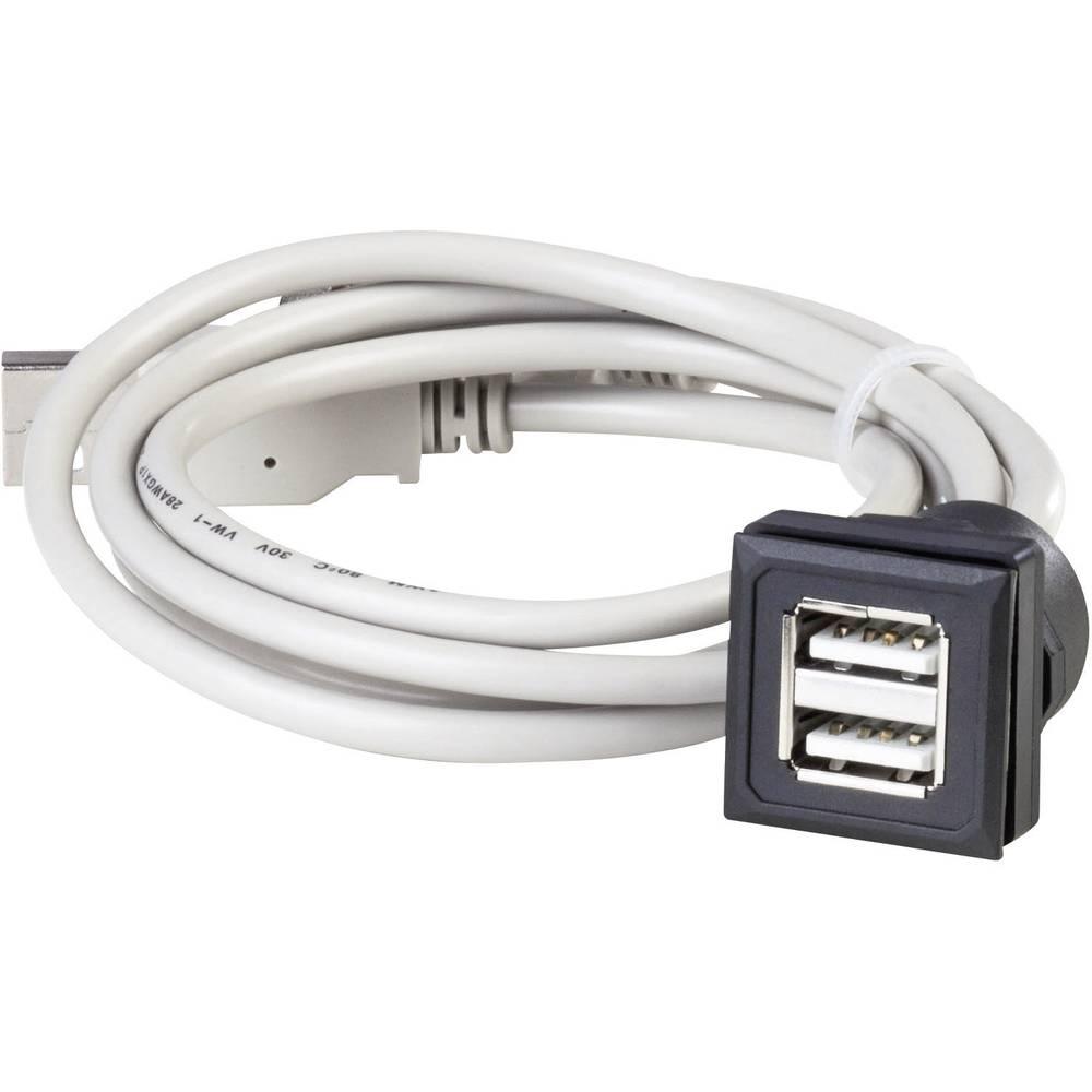USB-dvojna-vgradna vtičnica OKTRON-Juwel vtičnica, vgradna, vertikalna OKJ_2USB dvojni-USB-vtičnica , tipa A na zwei USB-Vtič ,