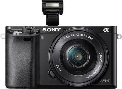 Image of E-mount system camera Sony ILCE-6000LB SEL-P16-50 mm Standard z