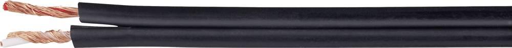Diodni kabel 2 x 0.14 mm črna metrsko blago