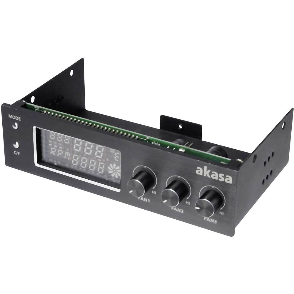 Pc Fan Controller 525 No Of Channels 3 Akasa Ak Fc 07bk In Connect 3pin Fans To 1 Channel