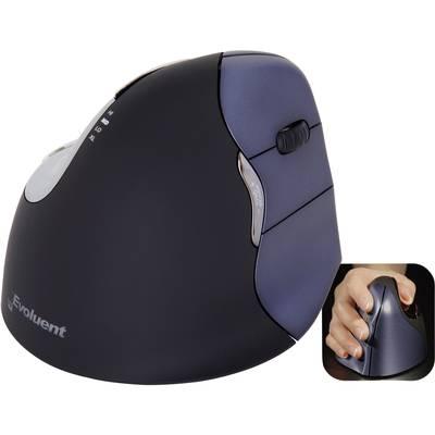 Image of Evoluent Vertical Mouse 4 VM4RW Radio Ergonomic mouse Optical Ergonomic Black, Silver