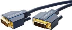 DVI Anslutningskabel clicktronic DVI-D Verbindungskabel [1x DVI-hane 24+1 pol - 1x DVI-hane 24+1 pol] 5 m Blå