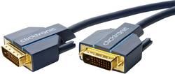 DVI Anslutningskabel clicktronic DVI-D Verbindungskabel [1x DVI-hane 24+1 pol - 1x DVI-hane 24+1 pol] 7.5 m Blå