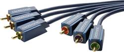 Tilslutningskabel Composite (phono) AV clicktronic [3x RCA-stik - 3x RCA-stik] 5 m Blå