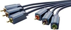 Tilslutningskabel Composite (phono) AV clicktronic [3x RCA-stik - 3x RCA-stik] 10 m Blå