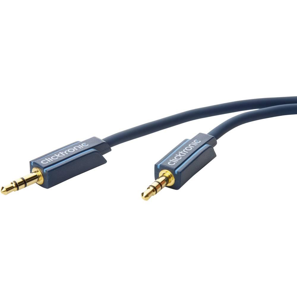 Avdio priključni kabel Clicktronic [1x cinch vtič 3.5 mm - 1x cinch vtič 3.5 mm] 1.50 m moder pozlačen vtični kontakt