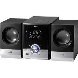 Stereoanlæg AEG MC 4461 BT AUX, Bluetooth, CD, FM, USB, Sort