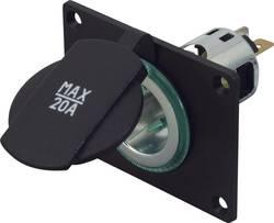 Power-stikdåse Indbygning, monteringsplade ProCar Powersteckdose 12/24 V mit Montageplatte 12 V, 24 V 20 A 6,3 mm fladstik