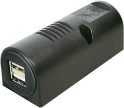 Stikdåse Opbygning ProCar Aufbausteckdose Power USB Doppelsteckd 12 V til 5 V, 24 V til 5 V 5 A Kabel afisoleret