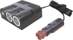 Fordeler Opbygning ProCar Dreifachsteckdose Power USB Doppelsteckd 12 V til 5 V, 24 V til 5 V 16 A Cigarettænder-stik