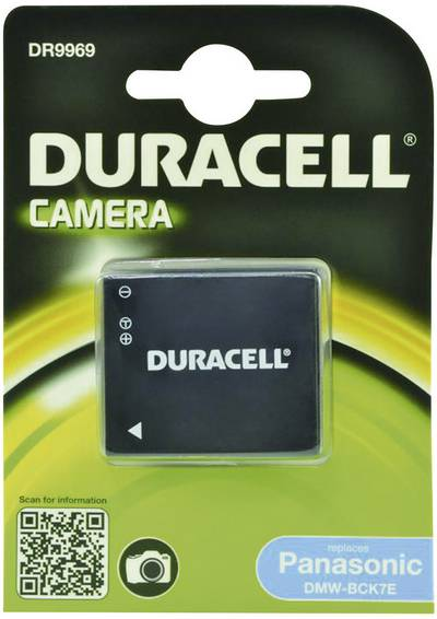 Image of Camera battery Duracell replaces original battery DMW-BCK7E 3.6 V