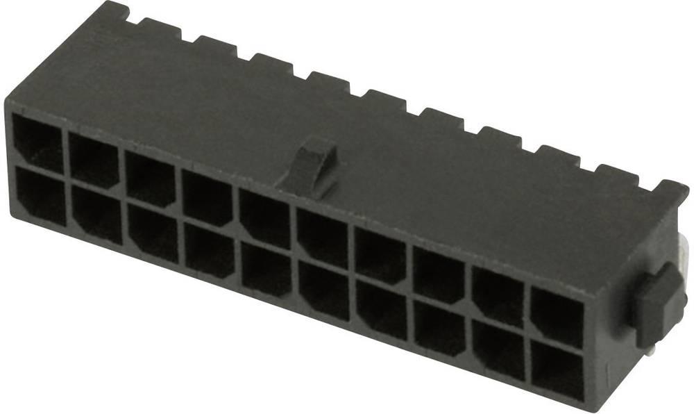 Stiftliste (standard) Micro-MATE-N-LOK Samlet antal poler 4 TE Connectivity 3-794618-4 Rastermål: 3 mm 1 stk