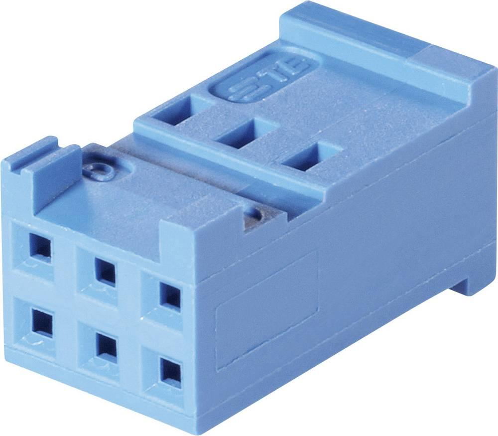 Tilslutningskabinet-kabel AMPMODU HE13/14 Samlet antal poler 6 TE Connectivity 281839-3 Rastermål: 2.54 mm 1 stk
