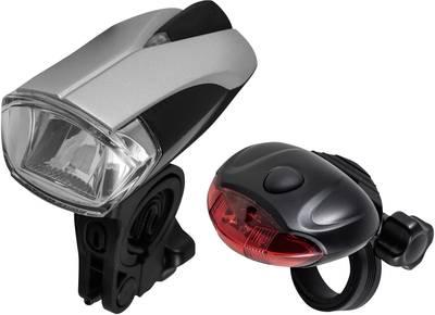 Varta Bike light set Bike Light Set LED battery-powered Silver-black
