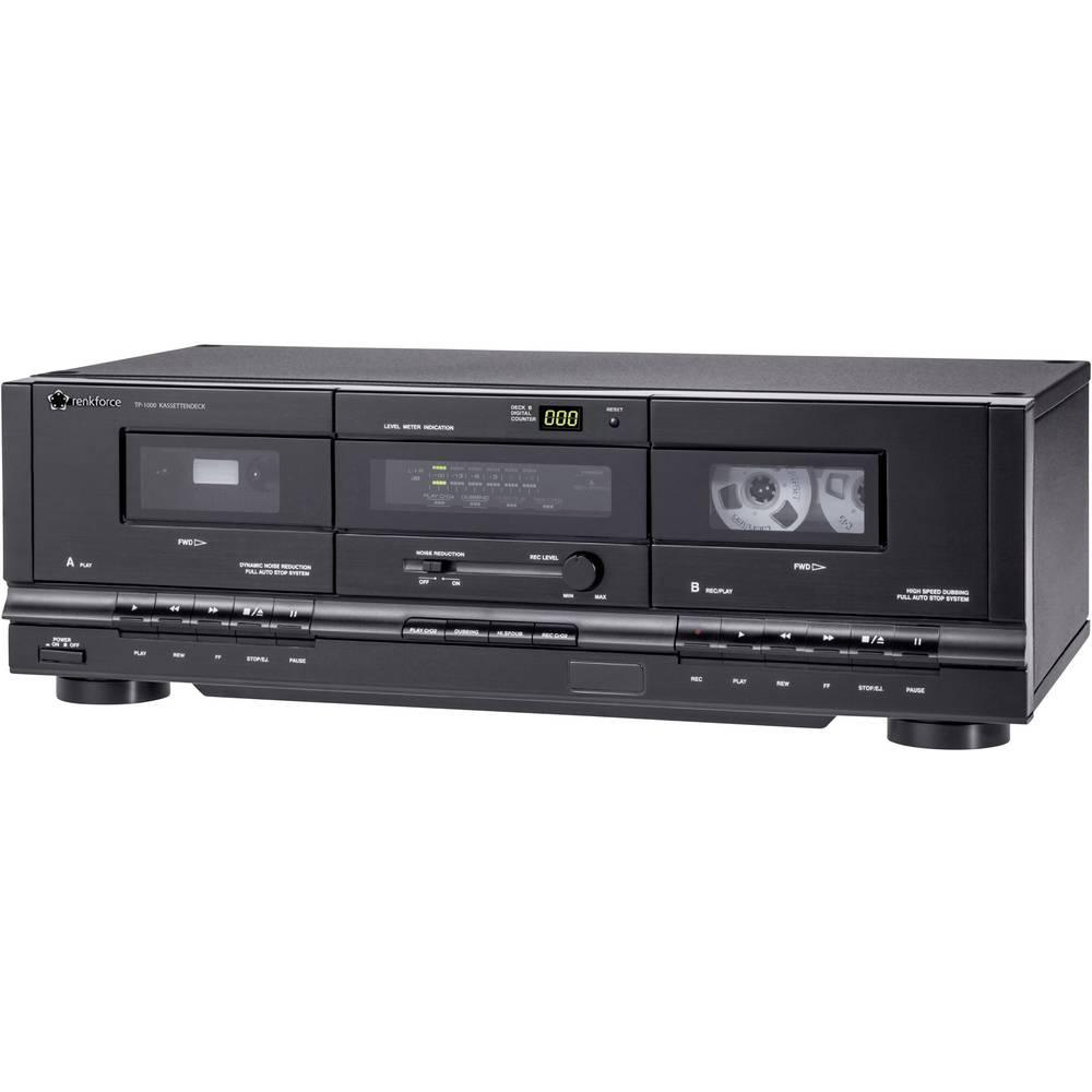Kasetofon Renkforce TP-1000 crni, dvostruki kasetofon