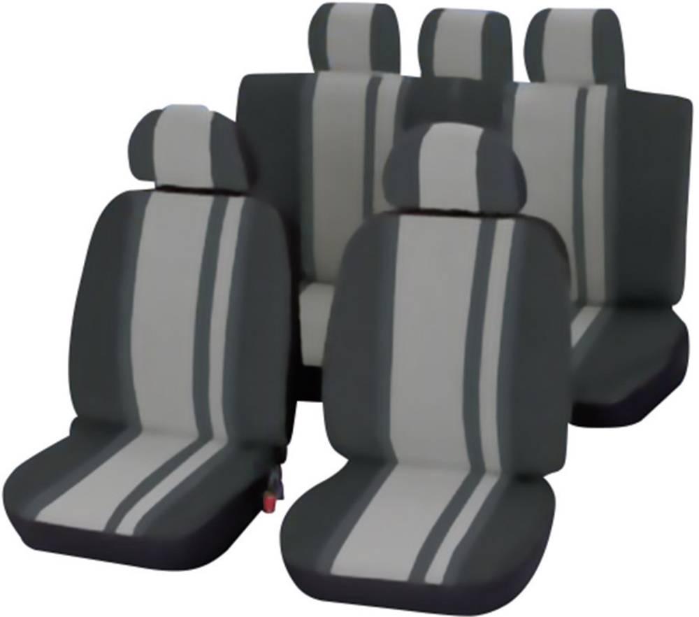 Unitec Komplet navlaka za sjedala Newline, 14-dijelni, crna, siva, sva sjedala 84957