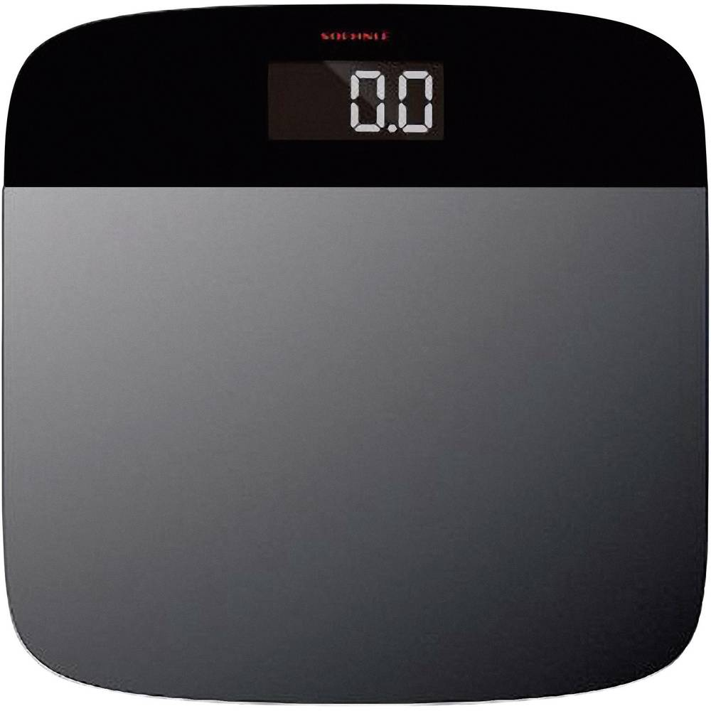 Digital Bathroom Scales Soehnle Elegance Steel Weight Range 150 Kg Silver Black For Use