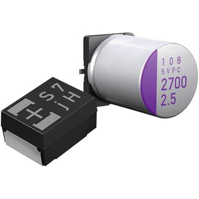 Compare prices with Phone Retailers Comaprison to buy a Panasonic 10SVP47M Electrolytic capacitor SMT 47 µF 10 Vdc 20 Ø x H 6.3 mm x 6 mm 1 pcs