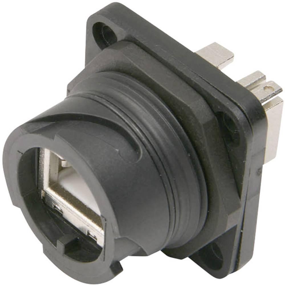 STX V1 RJ45-vtični komplet iz umetne mase verzije 1 spona, vgraden, polov: 8P8C J80020A0003 črne barve Telegärtner J80020A0003 1