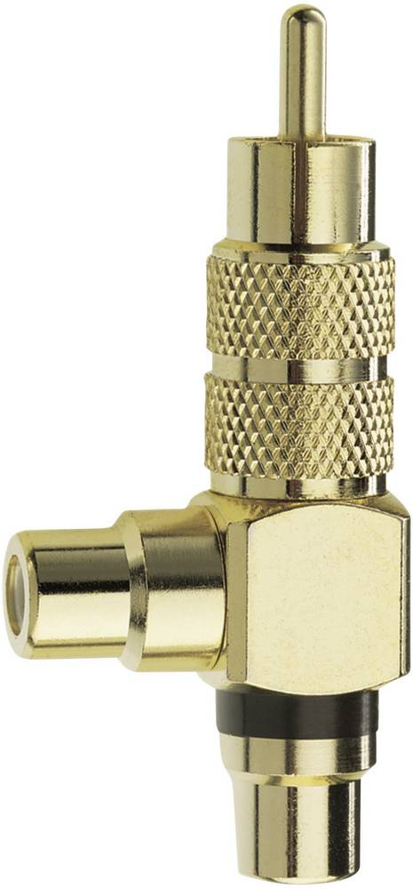 Cinch avdio adapter [1x Cinch vtič - 2x Cinch vtičnica] zlate barve, Inakustik