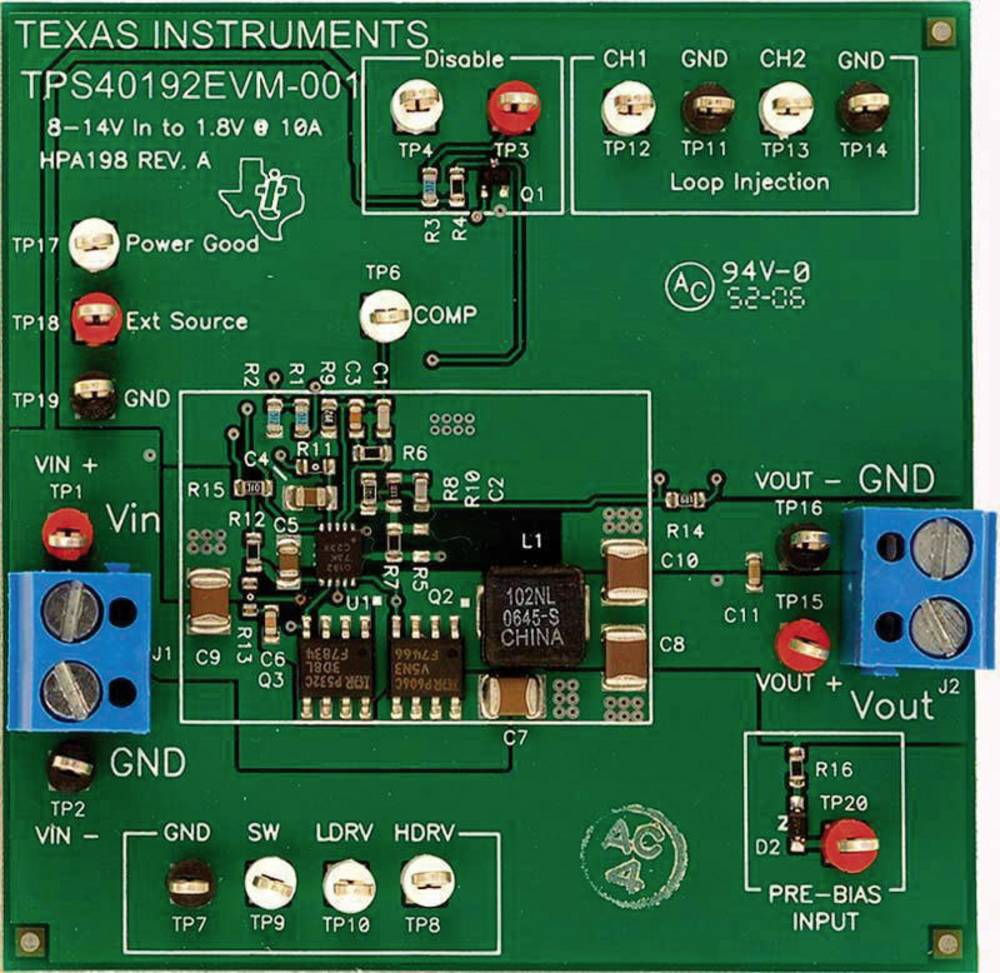 Razvojna plošča Texas Instruments TPS40192EVM-001