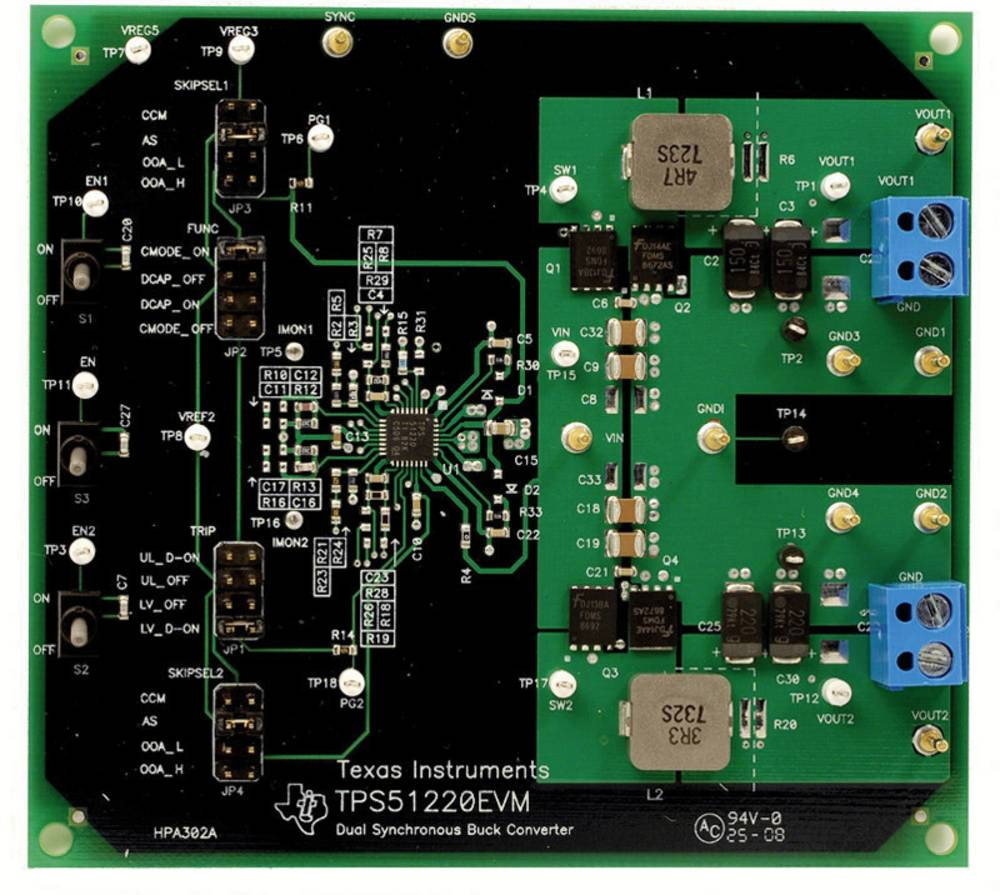 Razvojna plošča Texas Instruments TPS51220EVM
